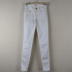 Frame Denim Le Skinny de Jeanne in White 23